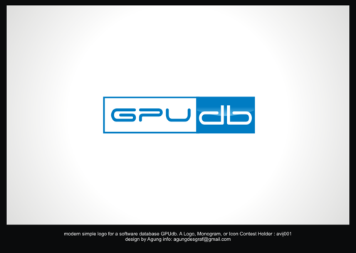 GPUdb  A Logo, Monogram, or Icon  Draft # 212 by agungdesgraf
