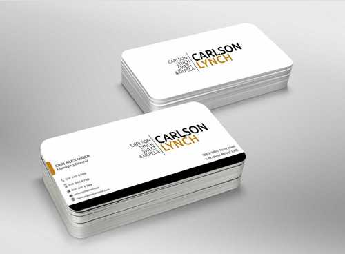 Modern and Professional Business Cards and Stationery  Draft # 221 by Dawson