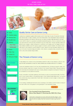 Senior Living Complete Web Design Solution  Draft # 2 by WebFlower