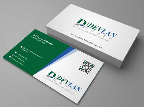 Devlan Group, Land Development and Consulting Business Cards and Stationery  Draft # 284 by Dawson