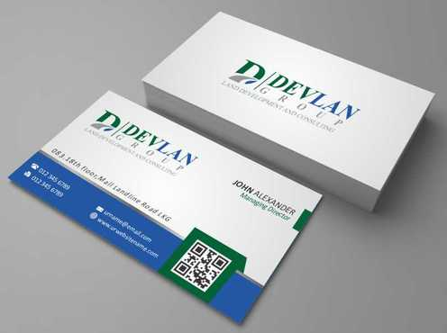 Devlan Group, Land Development and Consulting Business Cards and Stationery  Draft # 285 by Dawson