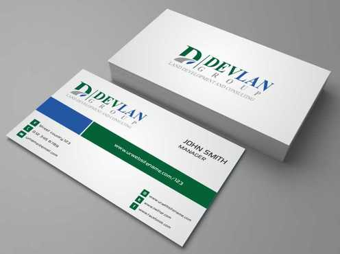 Devlan Group, Land Development and Consulting Business Cards and Stationery  Draft # 289 by Dawson