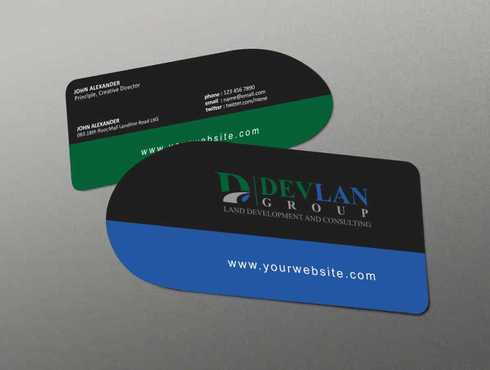 Devlan Group, Land Development and Consulting Business Cards and Stationery  Draft # 290 by Dawson