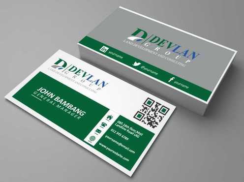 Devlan Group, Land Development and Consulting Business Cards and Stationery  Draft # 291 by Dawson
