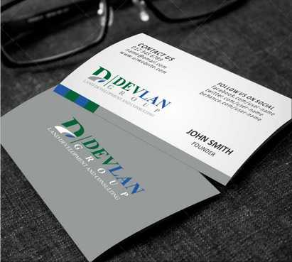 Devlan Group, Land Development and Consulting Business Cards and Stationery  Draft # 292 by Dawson