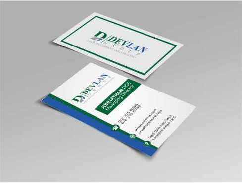 Devlan Group, Land Development and Consulting Business Cards and Stationery  Draft # 294 by Dawson