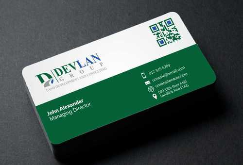 Devlan Group, Land Development and Consulting Business Cards and Stationery  Draft # 295 by Dawson