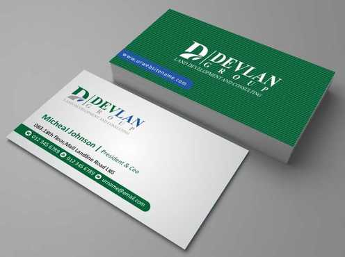 Devlan Group, Land Development and Consulting Business Cards and Stationery  Draft # 296 by Dawson