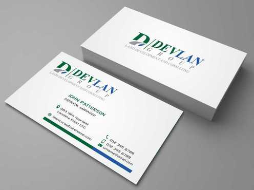 Devlan Group, Land Development and Consulting Business Cards and Stationery  Draft # 298 by Dawson