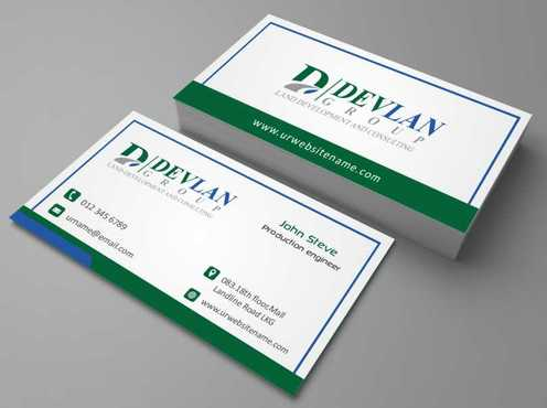 Devlan Group, Land Development and Consulting Business Cards and Stationery  Draft # 299 by Dawson