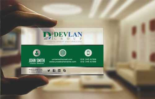 Devlan Group, Land Development and Consulting Business Cards and Stationery  Draft # 301 by Dawson