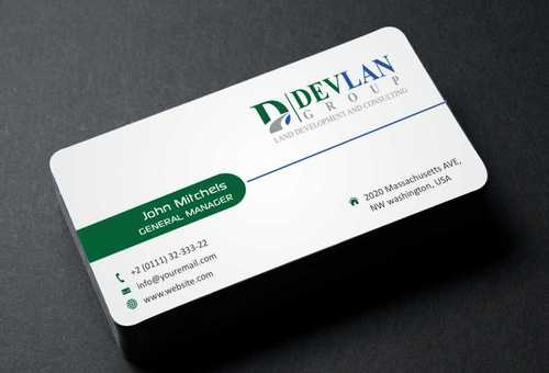 Devlan Group, Land Development and Consulting Business Cards and Stationery  Draft # 302 by Dawson