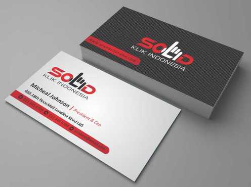 PT. Solid Klik Indonesia Business Cards and Stationery  Draft # 188 by Dawson