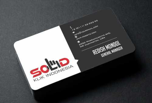 PT. Solid Klik Indonesia Business Cards and Stationery  Draft # 198 by Dawson