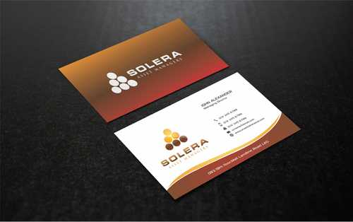 Solera Asset Managers, LLC Business Cards and Stationery  Draft # 212 by Dawson