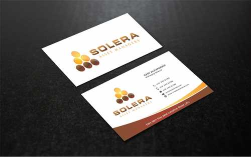 Solera Asset Managers, LLC Business Cards and Stationery  Draft # 213 by Dawson