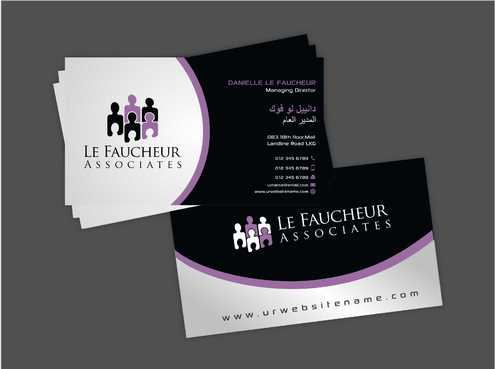 Le Faucheur Associates  Business Cards and Stationery  Draft # 101 by Dawson