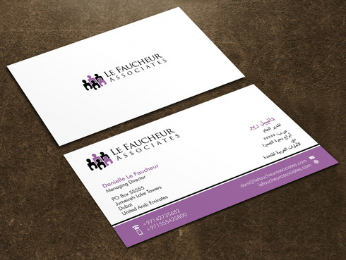 Le Faucheur Associates  Business Cards and Stationery  Draft # 116 by Xpert