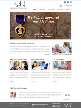 Medicaid Assistants Complete Web Design Solution  Draft # 37 by makeglow