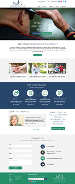 Medicaid Assistants Complete Web Design Solution Winning Design by DisplayTrick