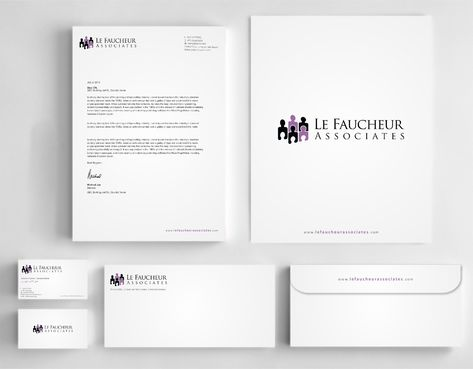 Le Faucheur Associates  Business Cards and Stationery  Draft # 119 by Dawson