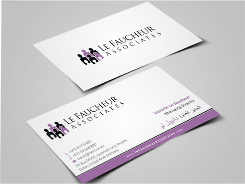 Le Faucheur Associates  Business Cards and Stationery  Draft # 120 by Dawson