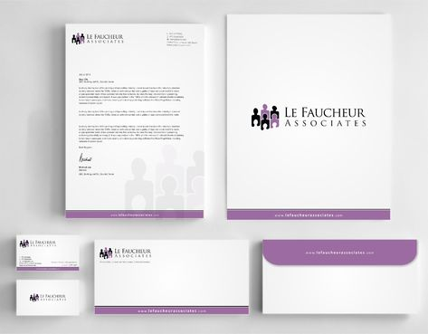 Le Faucheur Associates  Business Cards and Stationery  Draft # 121 by Dawson