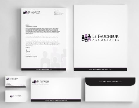 Le Faucheur Associates  Business Cards and Stationery  Draft # 123 by Dawson