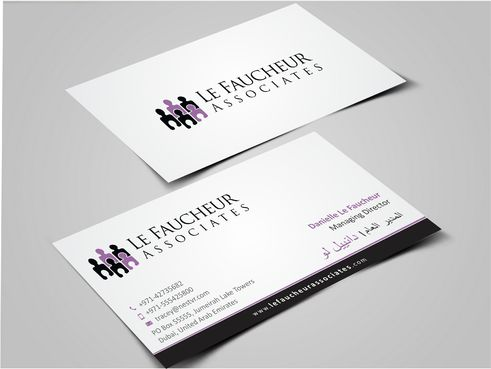 Le Faucheur Associates  Business Cards and Stationery  Draft # 122 by Dawson