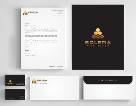 Solera Asset Managers, LLC Business Cards and Stationery  Draft # 247 by Dawson