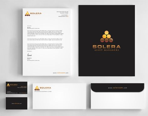 Solera Asset Managers, LLC Business Cards and Stationery  Draft # 255 by Dawson