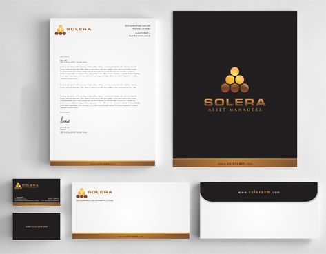 Solera Asset Managers, LLC Business Cards and Stationery  Draft # 257 by Dawson