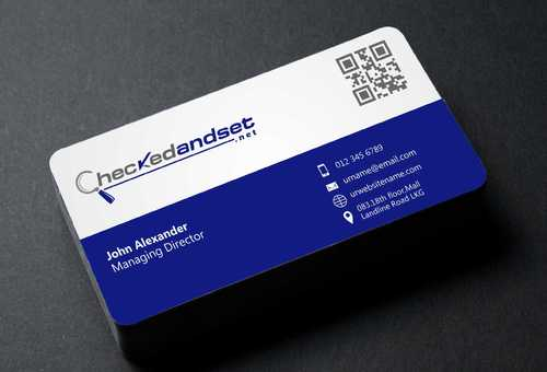 checkedandset.net Business Cards and Stationery  Draft # 109 by Dawson
