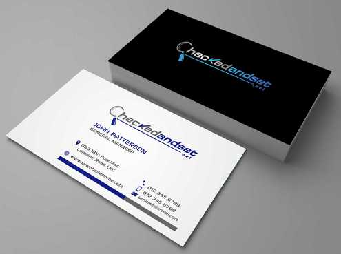 checkedandset.net Business Cards and Stationery  Draft # 113 by Dawson
