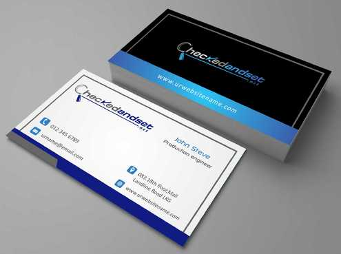 checkedandset.net Business Cards and Stationery  Draft # 114 by Dawson