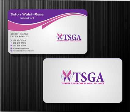 Turner Syndrome Global Alliance Business Cards and Stationery  Draft # 194 by Dawson