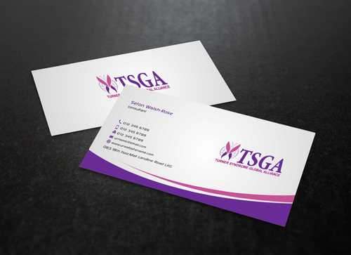 Turner Syndrome Global Alliance Business Cards and Stationery  Draft # 195 by Dawson