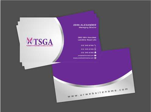 Turner Syndrome Global Alliance Business Cards and Stationery  Draft # 199 by Dawson