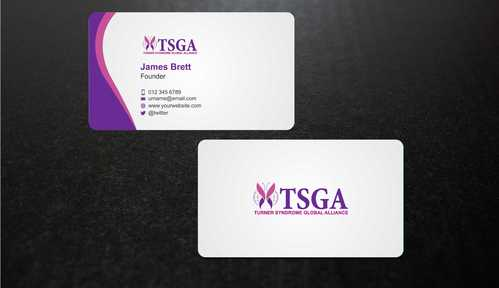 Turner Syndrome Global Alliance Business Cards and Stationery  Draft # 201 by Dawson