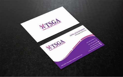 Turner Syndrome Global Alliance Business Cards and Stationery  Draft # 210 by Dawson