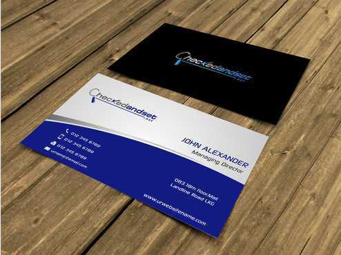 checkedandset.net Business Cards and Stationery  Draft # 144 by Dawson
