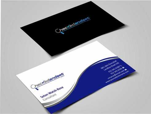 checkedandset.net Business Cards and Stationery  Draft # 155 by Dawson