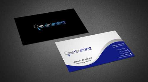 checkedandset.net Business Cards and Stationery  Draft # 158 by Dawson