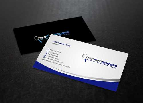 checkedandset.net Business Cards and Stationery  Draft # 165 by Dawson