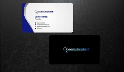 checkedandset.net Business Cards and Stationery  Draft # 171 by Dawson