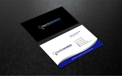 checkedandset.net Business Cards and Stationery  Draft # 181 by Dawson