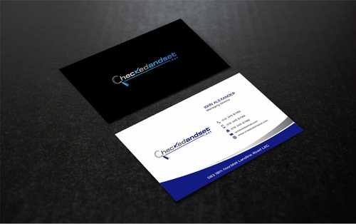 checkedandset.net Business Cards and Stationery  Draft # 182 by Dawson
