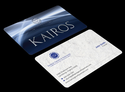 Kairos Growth Partners From Complexity: Opportunity Business Cards and Stationery  Draft # 178 by waterdropdesign