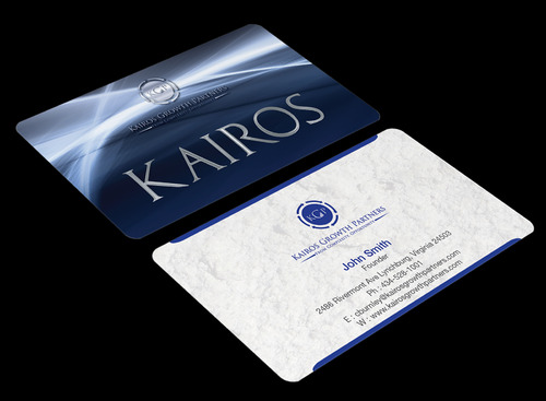 Kairos Growth Partners From Complexity: Opportunity Business Cards and Stationery  Draft # 186 by waterdropdesign