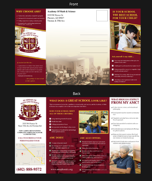 Academy of Math & Science Marketing collateral Winning Design by pivotal